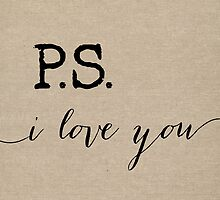 P.S. I love you in Burlap by mallorybottesch
