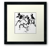 Soccer game Framed Print