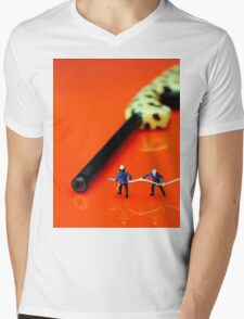 Fire Fighters And Fire Gun Mens V-Neck T-Shirt