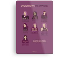 Doctor Who | Companions Metal Print