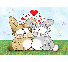 Bunny Love Photographic Print