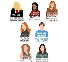 Doctor Who |Companions (alternate version) by CLMdesign