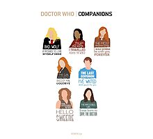 Doctor Who |Companions (alternate version) Photographic Print