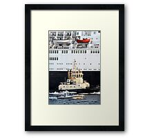 Escorting the QE2 Framed Print