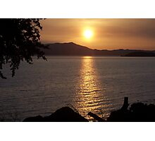 Setting Sun Over The Marin Headlands Photographic Print