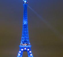 La Tour Eiffel En Bleu Sticker