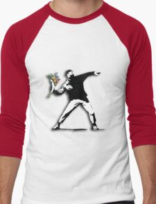 Banksy Anarchist Men's Baseball ¾ T-Shirt