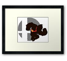 Donkey Kong - Sunset Shores Framed Print