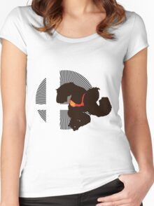 Donkey Kong - Sunset Shores Women's Fitted Scoop T-Shirt