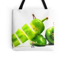 Chopping Green Peppers Tote Bag