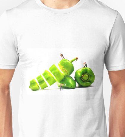 Chopping Green Peppers Unisex T-Shirt