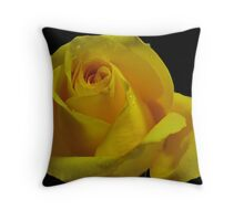 The Breast Cancer Rose Throw Pillow