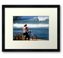 surf check Hawaii style Framed Print