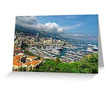 View of Monaco Bay Greeting Card