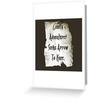 Lonely Adventurer Greeting Card