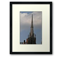 Top off the church and touch the heavens Framed Print