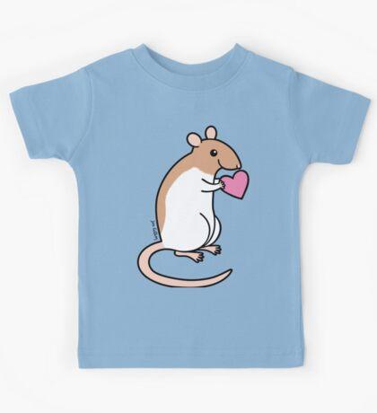 Sweet Ratty Valentine  Kids Tee