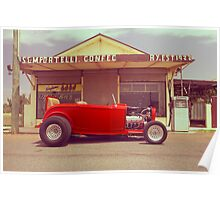Red 32 Ford Hot Rod Poster