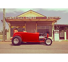 Red 32 Ford Hot Rod Photographic Print