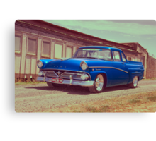 Blue Ford Mainline Canvas Print