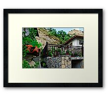 A country house in rural Bulgaria Framed Print