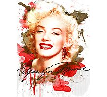 Marilyn Monroe watercolor signature Photographic Print
