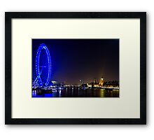 London Eye and the Houses of Parliament, England Framed Print