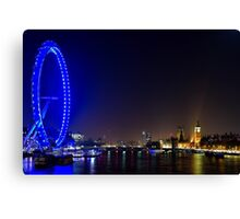 London Eye and the Houses of Parliament, England Canvas Print