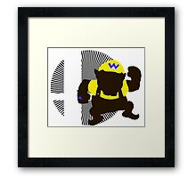Wario (Classic) - Sunset Shores Framed Print