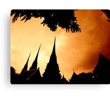 THAILAND TEMPLES.... Canvas Print