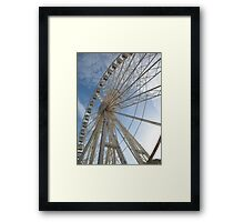 Big wheel keep on turning Framed Print