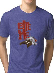 Bite Me - Chocolate Bar (2) Tri-blend T-Shirt