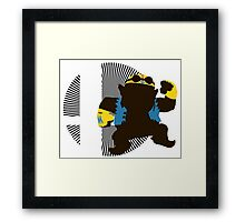 Wario (Biker) - Sunset Shores Framed Print