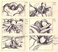 "Storyboards from ""Walk"" by Liesl Yvette Wilson"