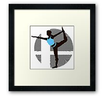 Wii Fit Trainer (Female) - Sunset Shores Framed Print