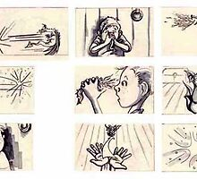 "Storyboards from ""The Magic Lantern"" by Liesl Yvette Wilson"