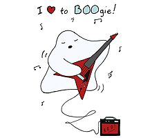 I love to BOOgie Photographic Print