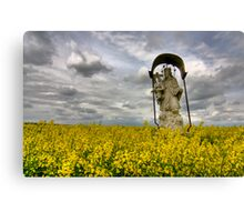 Yellow Saint Canvas Print