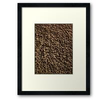 Rough Stone Surface Framed Print