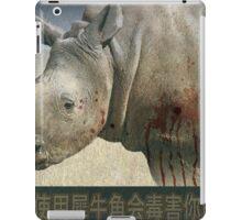orphaned, baby rhino poster iPad Case/Skin