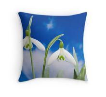 snowdrop flower blooms  Throw Pillow