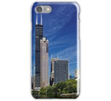 A Chicago river cruise view towards  the Willis Tower iPhone Case/Skin