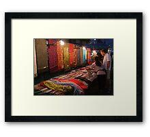 Night Market - Pashmina Framed Print