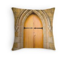St Johns church door, Richmond, Tasmania Throw Pillow