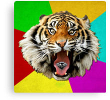 Time of the Month Tiger Canvas Print