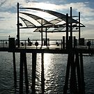 section of Redondo Beach Pier, California by organic