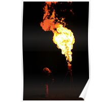 Working the Gas Flare Poster