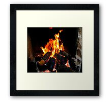 The Warmth Of An Irish Turf Fire Framed Print