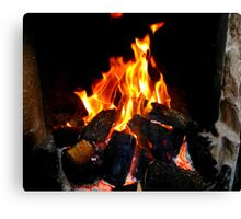 The Warmth Of An Irish Turf Fire Canvas Print