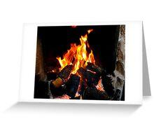 The Warmth Of An Irish Turf Fire Greeting Card